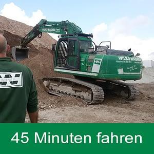 Hydraulik Kettenbagger 45 Minuten mieten