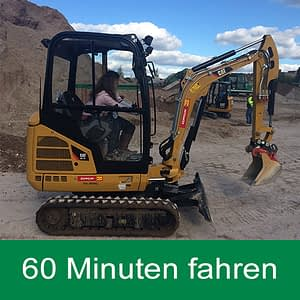 Hydraulik Kettenminibagger 60 Minuten mieten